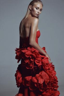 красное платье #16