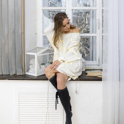 Белый женский свитер напрокат