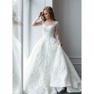Роскошное белое платье напрокат для свадьбы