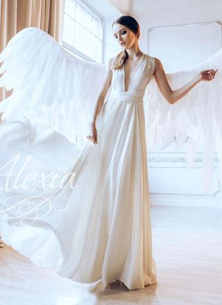 Белые большие ангельские крылья напрокат